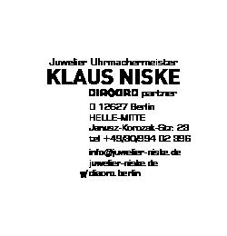 Logo von Juwelier Uhrmachermeister Klaus Niske